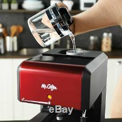 Mr. Coffee Café 20-Ounce Steam Automatic Espresso and Cappuccino Machine Red