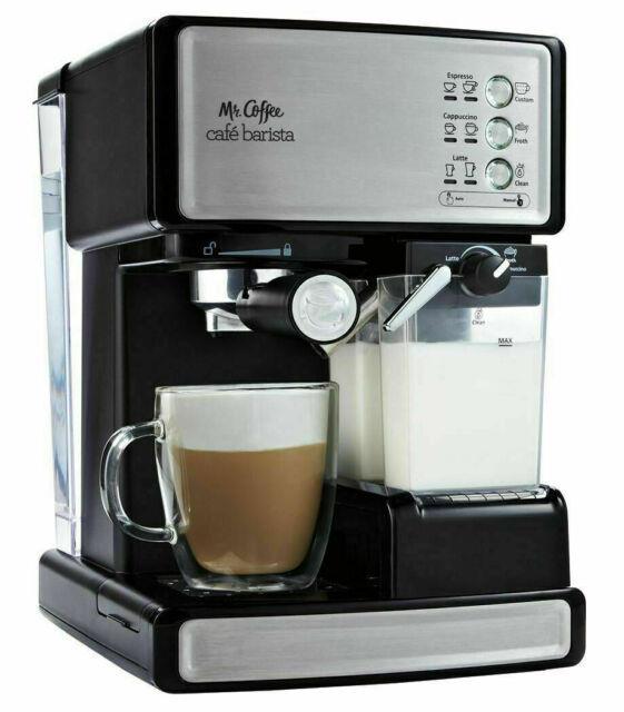 Mr. Coffee Café Barista Bvmcecmp1000 Premium Espresso & Cappuccino Machine-chrome