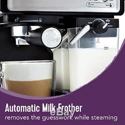 Mr. Coffee Cafe Barista Espresso Cappuccino Latte Maker Semi-automatic Silver