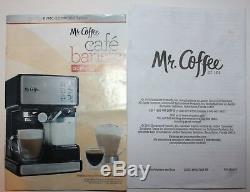 Mr. Coffee Café Barista Espresso Cappuccino Latte Maker with Milk Frother Black EUC