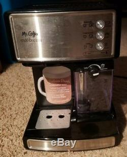 Mr. Coffee Cafe Barista Espresso Cappuccino Maker Black & Silver BVMC-ECMP1000