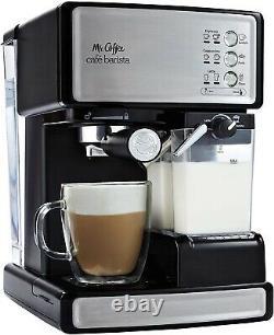 Mr. Coffee Café Barista Premium Espresso and Cappuccino Machine-Silver