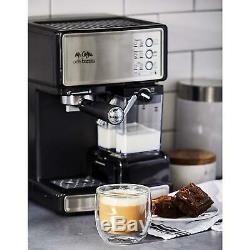Mr. Coffee Espresso Cappuccino Latte Maker Silver 3-In-1 Cafe Barista 15 Bar