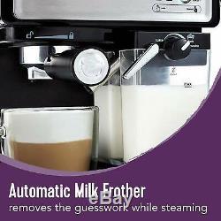 Mr. Coffee Espresso Cappuccino Machine Café Barista Black/Stainless Steel