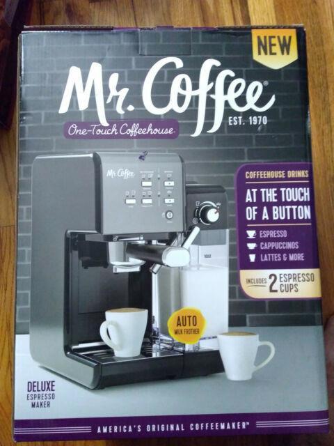 Mr. Coffee One-touch Coffeehouse Deluxe Espresso Maker & Cappuccino Machine, New