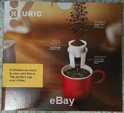 NEW Keurig K-Elite Single Serve K-Cup Pod Coffee Maker Brushed Silver/Slate