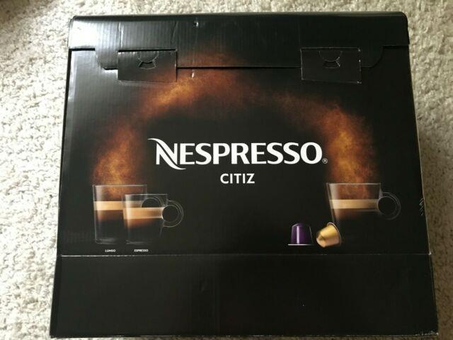 Nespresso Citiz Capsule Pod Cappuccino Espresso Coffee Machine Black New