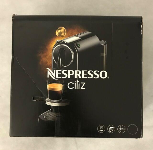 Nespresso Citiz Capsule Pod Cappuccino Espresso Coffee Machine New Black