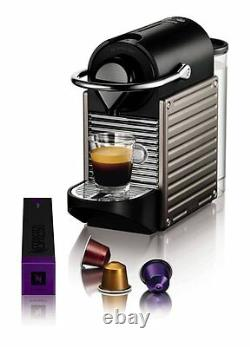 Nespresso Pixie Coffee Machine by Krups Titanium