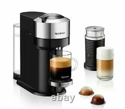 Nespresso Vertuo Next Coffee & Espresso Machine W Aeroccino by De'Longhi Chrome