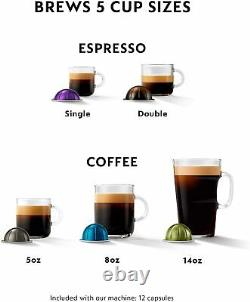 Nespresso Vertuo Single Serve Coffee Maker Espresso Machine by Delonghi Titan