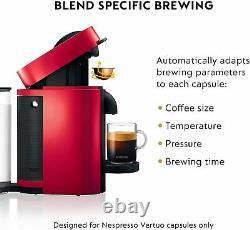 Nespresso by De'Longhi ENV150RAE VertuoPlus & Aeroccino Milk Frother RED New