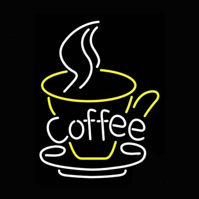 New Coffee Cafe Shop Open Espresso Cappuccino Beer Neon Sign 17x14