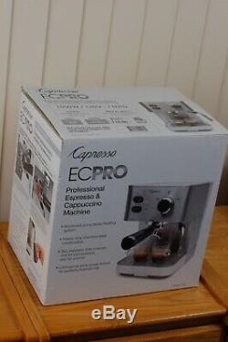 New In Box Capresso EC PRO Espresso Cappuccino Latte Coffee Machine Model 118.05