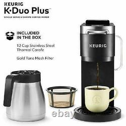 New Keurig K-Duo Plus Coffee Maker, Single Serve Compatible with K-Cup Pods