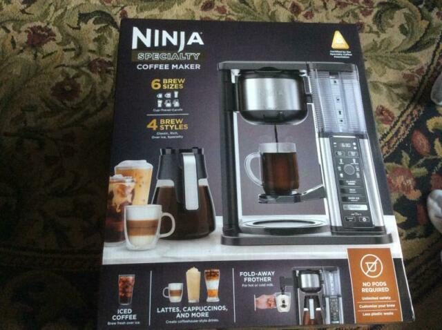 Ninja Cm401 Specialty Fold-away Frother Coffee Maker Glass Carafe