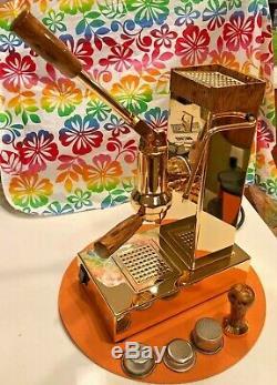 Ponte Vecchio Export Gold Spring Piston Lever Coffee Espresso Cappuccino Machine