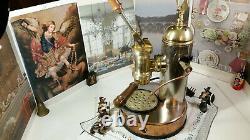 RARE Elektra S1 copper brass spring espresso machine coffee FULL ACCESSORIES