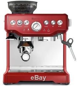 Red Coffee Bean Grinder Maker Kitchen Appliance Cappuccino Espresso Machine