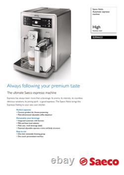 SAECO Xelsis Stainless Steel ONE TOUCH Espresso/Cappuccino/Latte super automatic