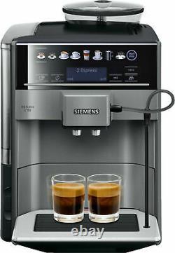 SIEMENS TE651509DE EQ. 6 Plus S100 Coffee machine fully automatic Black Titanium