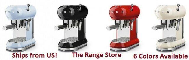 Smeg 50's Retro Style Aesthetic Espresso Coffee Machine 6 Colors Available