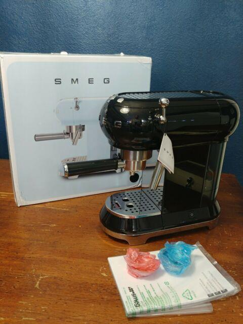 Smeg Ecf01blus 50's Retro Style Aesthetic Espresso Coffee Machine Black