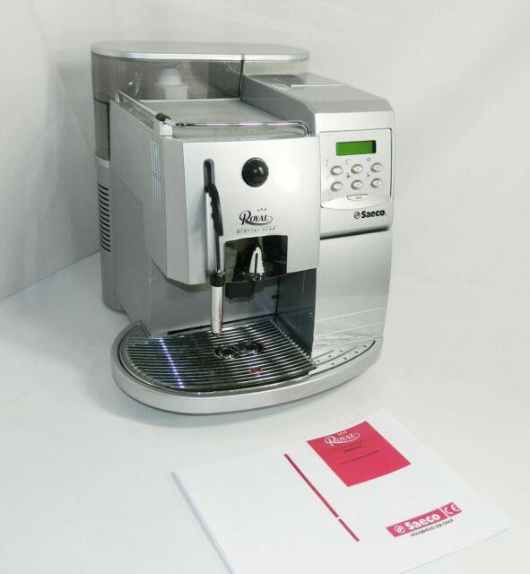 Saeco Royal Digital Plus Espresso Cappuccino Maker Coffee Machine Tested! Clean