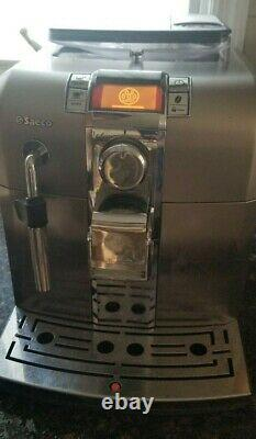 Saeco Syntia Espresso Coffee Machine Model SUP037DR Stainless Steel
