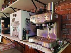 Sage Barista Express Coffee & Espresso Combo Silver