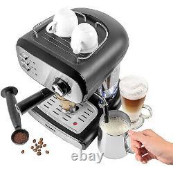 Salter Cafe Barista Pro Coffee Espresso Maker 15 Bar Latte Milk Frothing Machine
