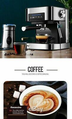 Semi-Automatic Coffee Maker, Cappuccino Machine, Espresso Combo, 20bar, #CM6863