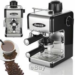 Sentik Professional Espresso Cappuccino Machine Coffee Home Office Black