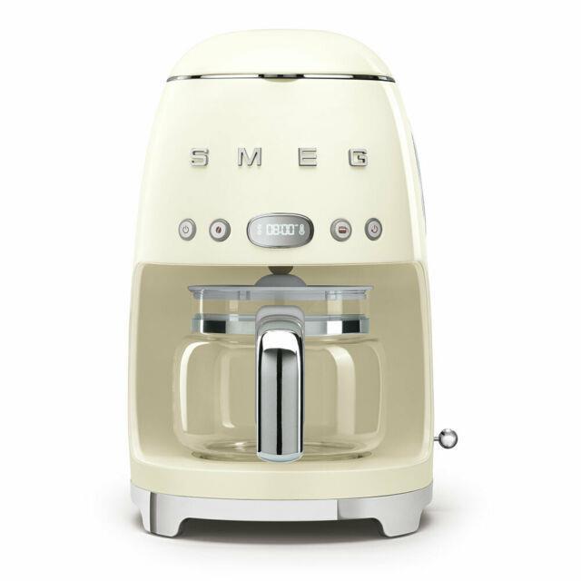 Smeg 50's Retro Style Aesthetic Drip Coffee Machine, Cream