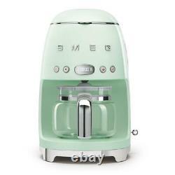 Smeg 50's Retro Style Aesthetic Drip Coffee Machine, Pastel Green