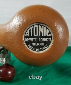 Vintage ATOMIC Brevetti Robbiati Espresso Coffee Maker Golden/Tan Brown Italy