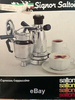 Vintage Signor SALTON ITALIAN ESPRESSO Cappuccino MAKER Coffee EX-3 in box VGUC