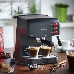 Vonshef 15 Bar Espresso Coffee Maker Lattes Cappuccinos Macchiatos Hot Chocolate