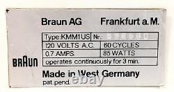 Vtg BRAUN KMM1 Burr Coffee Grinder Mill W Germany Dieter Rams Reinhold Weiss MCM
