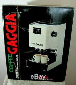 Vtg Brevetti Gaggia Espresso Coffee Machine 41276 White Italy Cappuccino Mocha