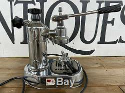 Vtg La Pavoni Professional Espresso Machine Chrome Coffee Maker