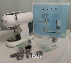 White SMEG 50's Retro Style Aesthetic Espresso Coffee Machine NEW