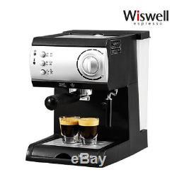 Wiswell Electric Semi Automatic Espresso Machine Coffee Maker Latte Cappuccino