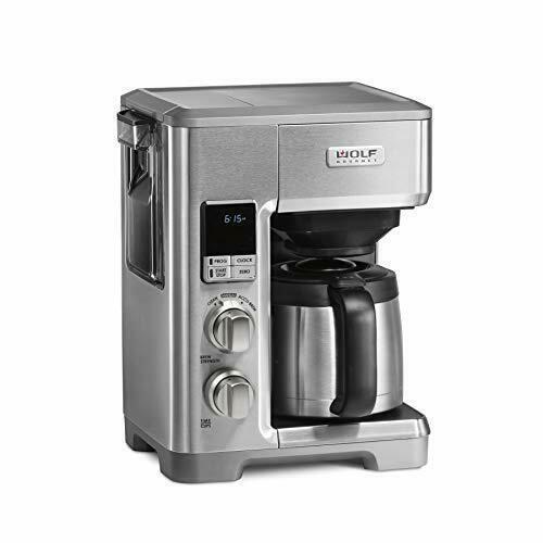 Wolf Gourmet Programmable Coffee System Thermal 10 Cup Stainless Steel Wgcm120s